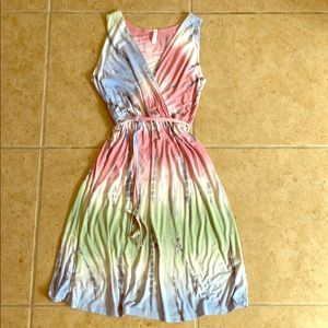 Solgee tie dye dress